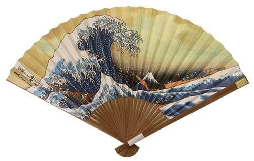 扇子「波裏に富士」浮世絵
