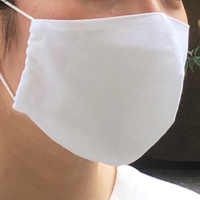 手ぬぐいマスク「無地(白)」
