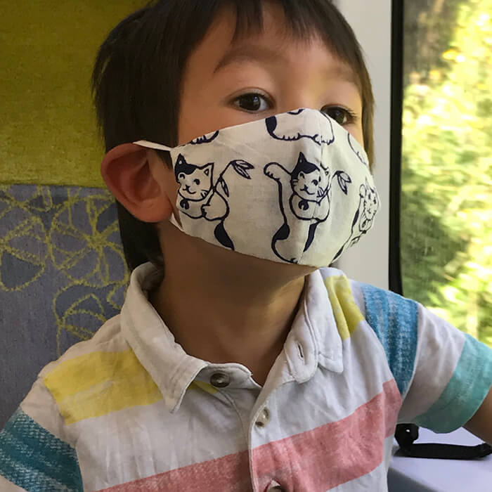 手ぬぐい子供マスク