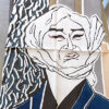 手ぬぐい「河庄」歌舞伎の演目