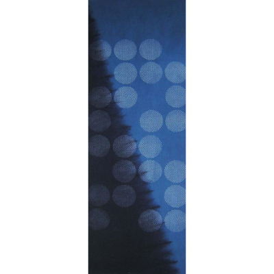 手ぬぐい「藍染め7 水玉」