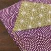シャンタンチーフ「鮫/麻の葉(紫)」