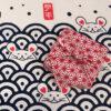 【ギフトセット】手ぬぐいハンカチ「麻の葉(赤)」