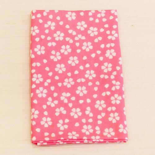 手ぬぐい「桜(ピンク)」ハート柄がかわいい