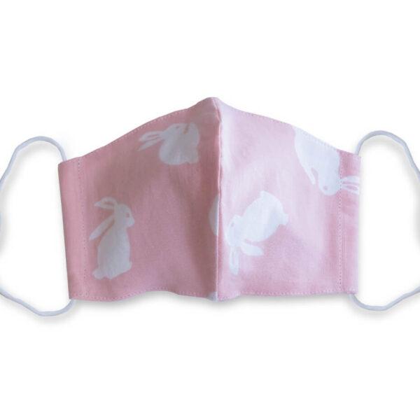 手ぬぐいマスク「うさぎ(ピンク)」