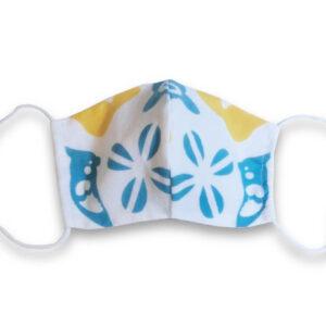 手ぬぐいマスク「インコ(白)」