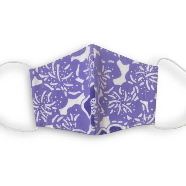 手ぬぐいマスク「花(紫)」