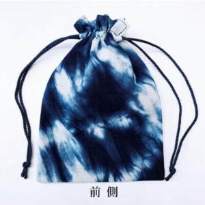 【阿波徳島】藍染め巾着「むら染め」