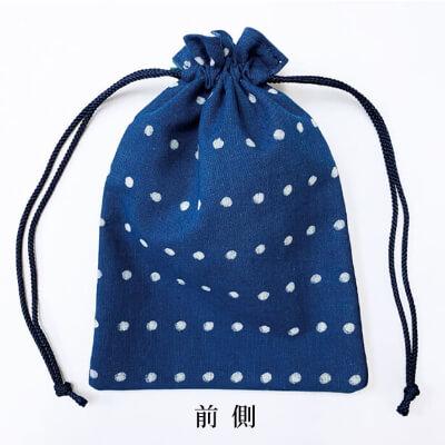 【阿波徳島】藍染め巾着「ドット」