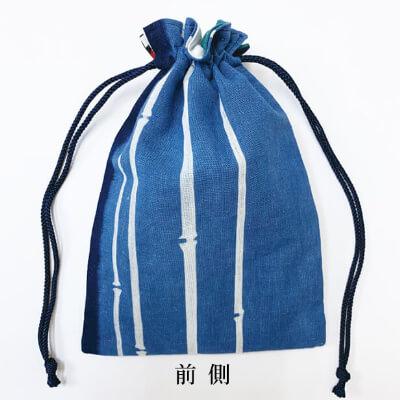 【阿波徳島】藍染め巾着「細竹」