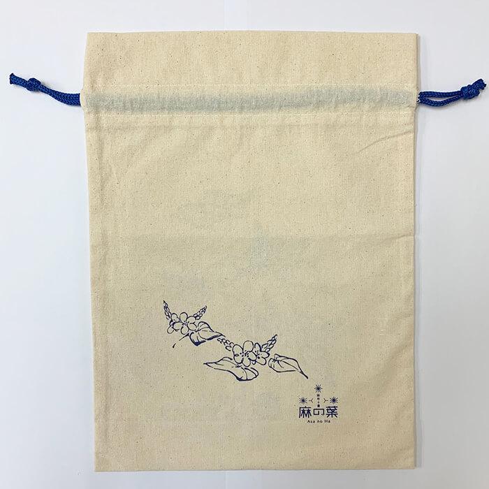更科堀井と麻の葉のコラボ巾着