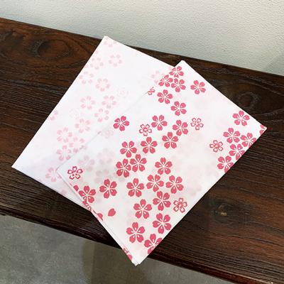 手ぬぐい「さくら花(オレンジ)」桜