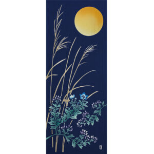 手ぬぐい「月に秋草図」お月見