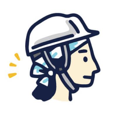 手ぬぐい防災「ヘルメット」