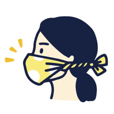 手ぬぐい防災「簡易マスク」